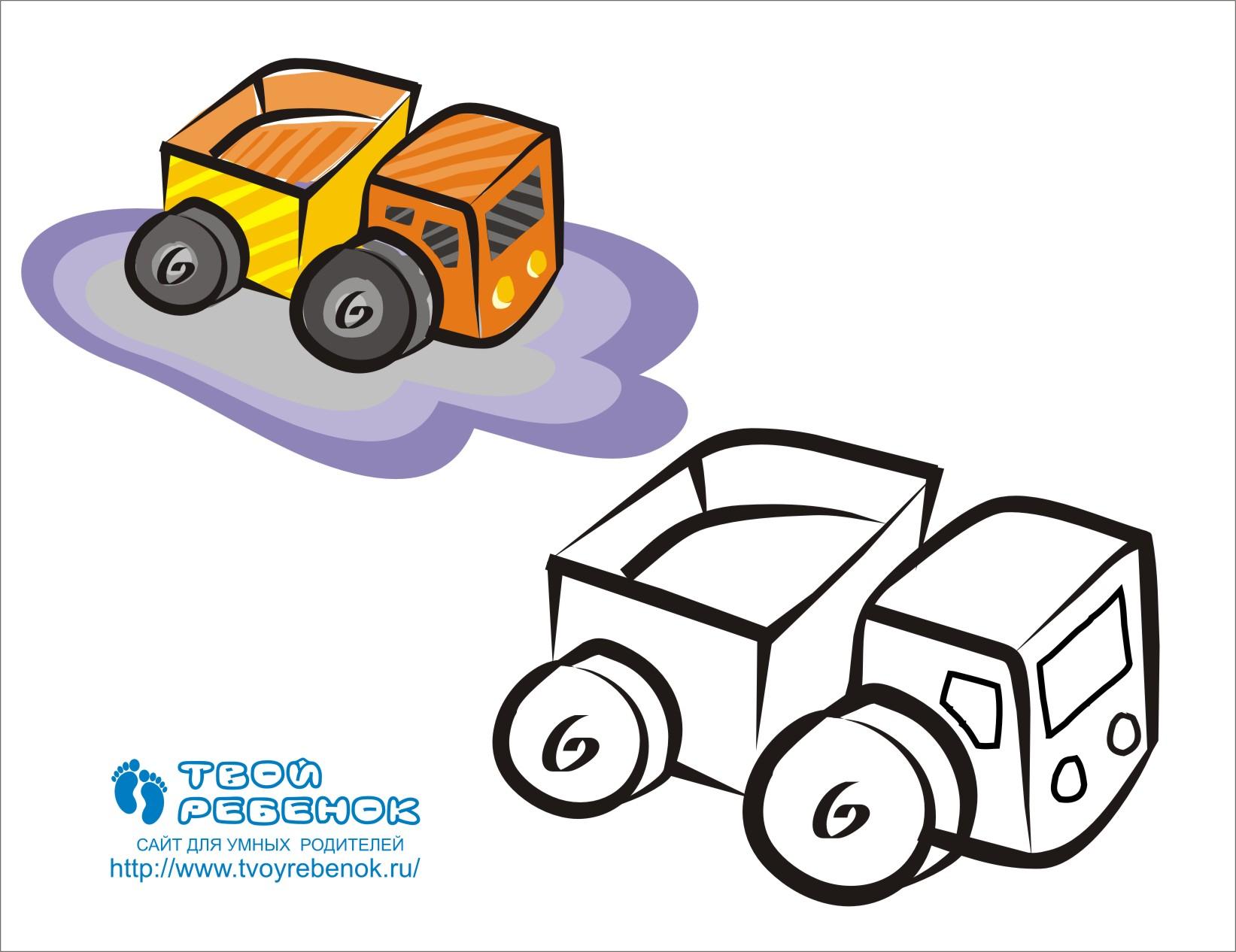 Раскраска грузовик | Скачать бесплатно!