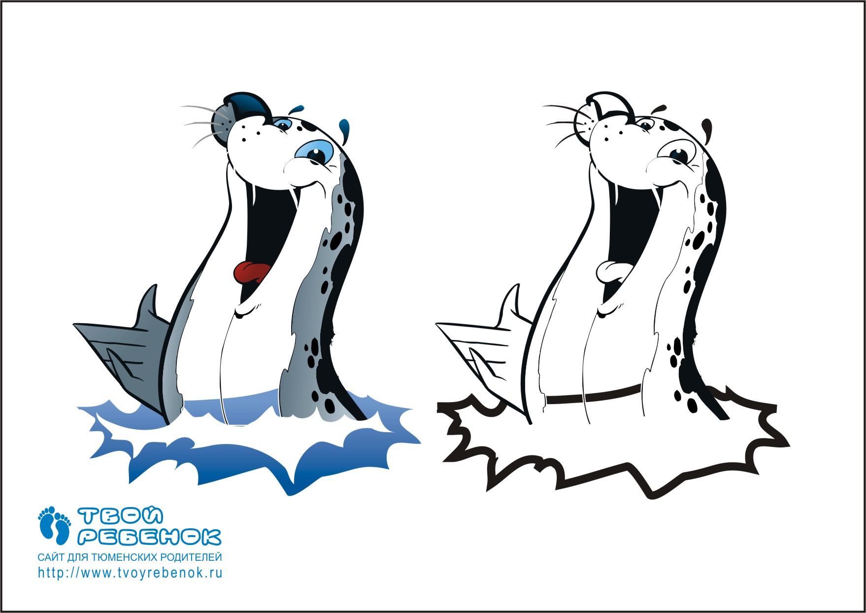 Раскраска морской котик   Скачать и распечатать бесплатно!