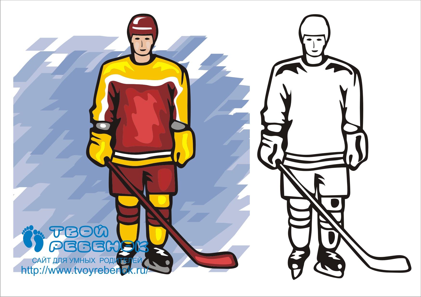 Dessin de joueur de hockey - Dessin de hockey ...