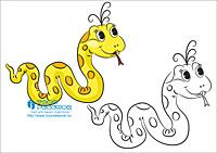 Змея картинки раскраски