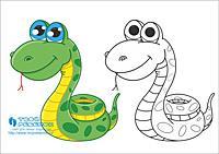 Змея рисунок