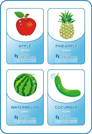 Картинки на английском языке фрукты