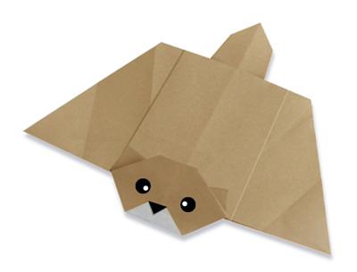 Оригами белка-летяга, сделанная из бумаги - наша новая модель…Схема сборки в этой статье.  Сложите за 20 простых...