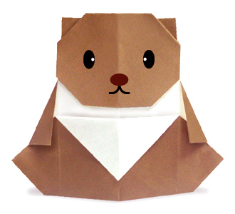 Оригами медвежонок