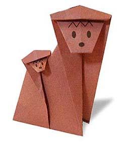 Оригами обезьяны