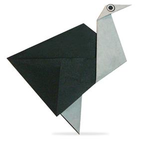 Оригами страус