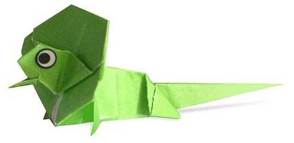Оригами ящерица