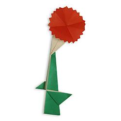 Оригами гвоздика