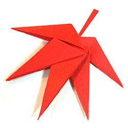 Оригами кленовый лист