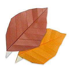 Оригами листья