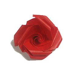 Простая роза оригами - несложная схема сборки красивого цветка.  Вы можете скачать схемы оригами из бумаги бесплатно.