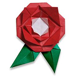 Оригами из бумаги роза
