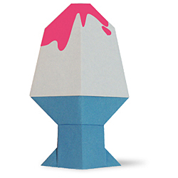 Оригами мороженка