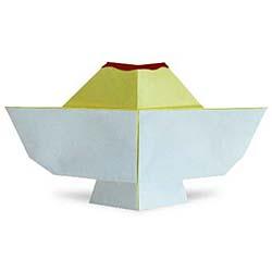 Схема двойного лебедя из модульного оригами схема