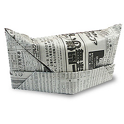 Оригами кепка из газеты