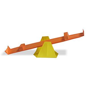 Объемное 3д оригами качели