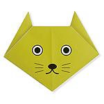 Оригами кошка схема