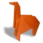 Оригами лошадь