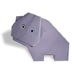 Оригами бегемот