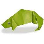Оригами хамелеон