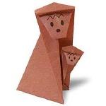 Оригами обезьянки
