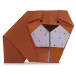 Оригами бульдог