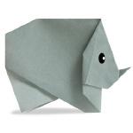Оригами носорог