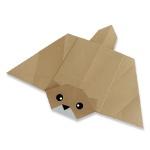 Оригами белка летяга