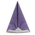 Оригами шапка самурая