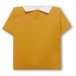 Оригами рубашка поло