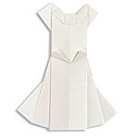 Оригами свадебное платье