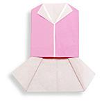 Оригами жилет и юбка