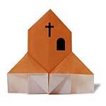 Оригами церковь
