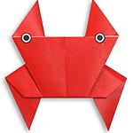 Краб оригами