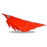 Оригами креветка