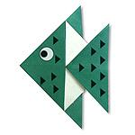 Оригами тропическая рыбка