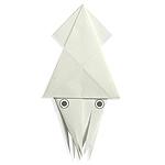 Оригами кальмар