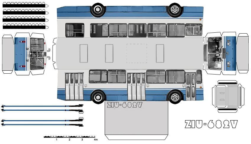 Оригами трамвай схема