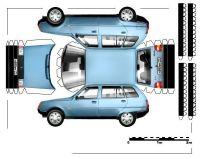 Досуг модели автомобилей из бумаги