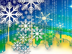зимние детские фоны для презентаций