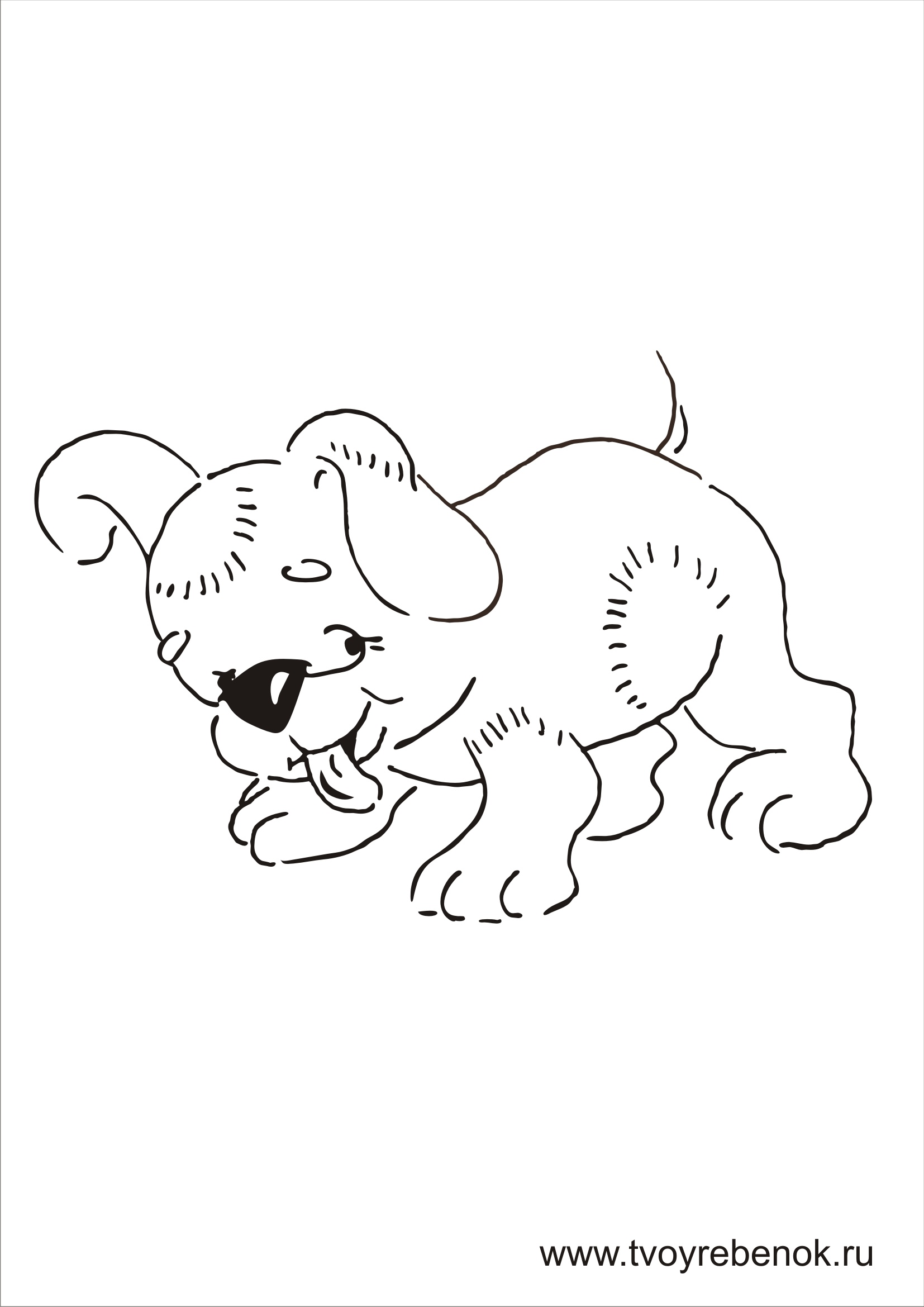 Раскраски детские собаки