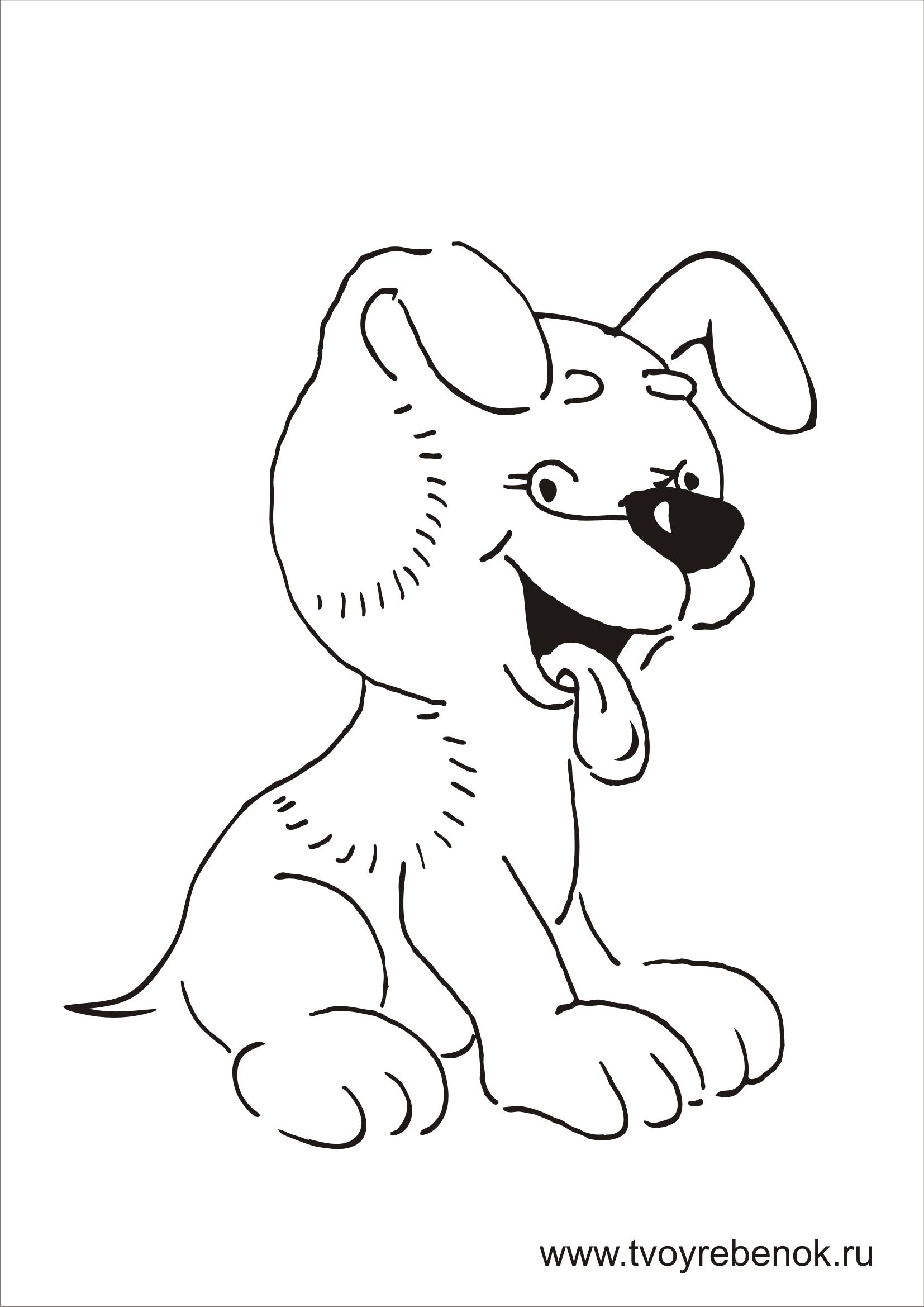 Раскраски для детей собаки
