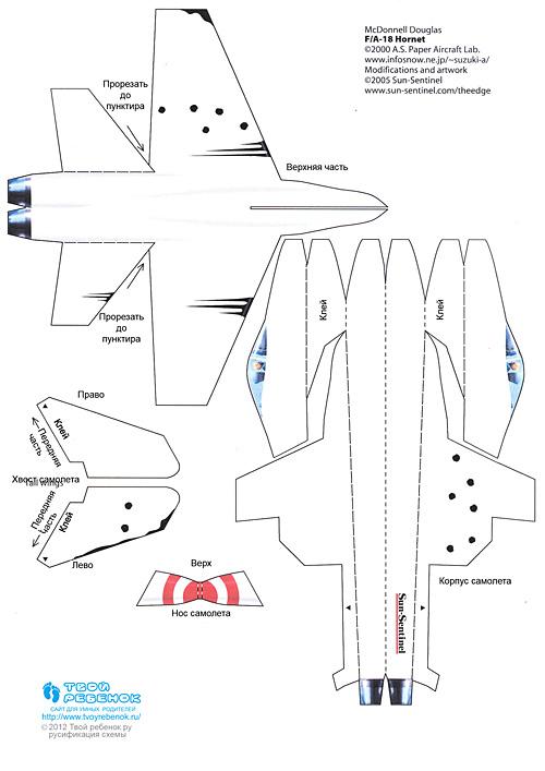 Детский самолет своими руками чертежи