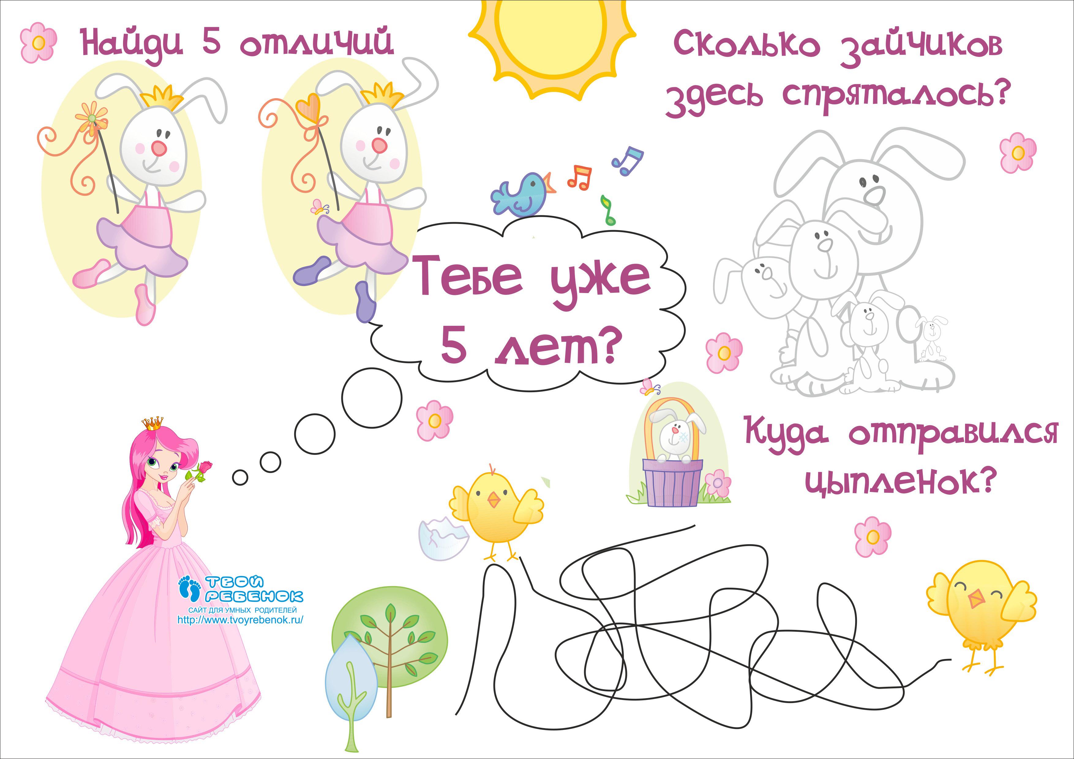 Картинки ко дню рождения 5 лет девочке