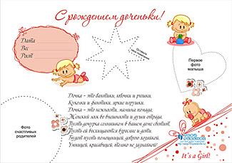 Стенгазета с рождением дочки