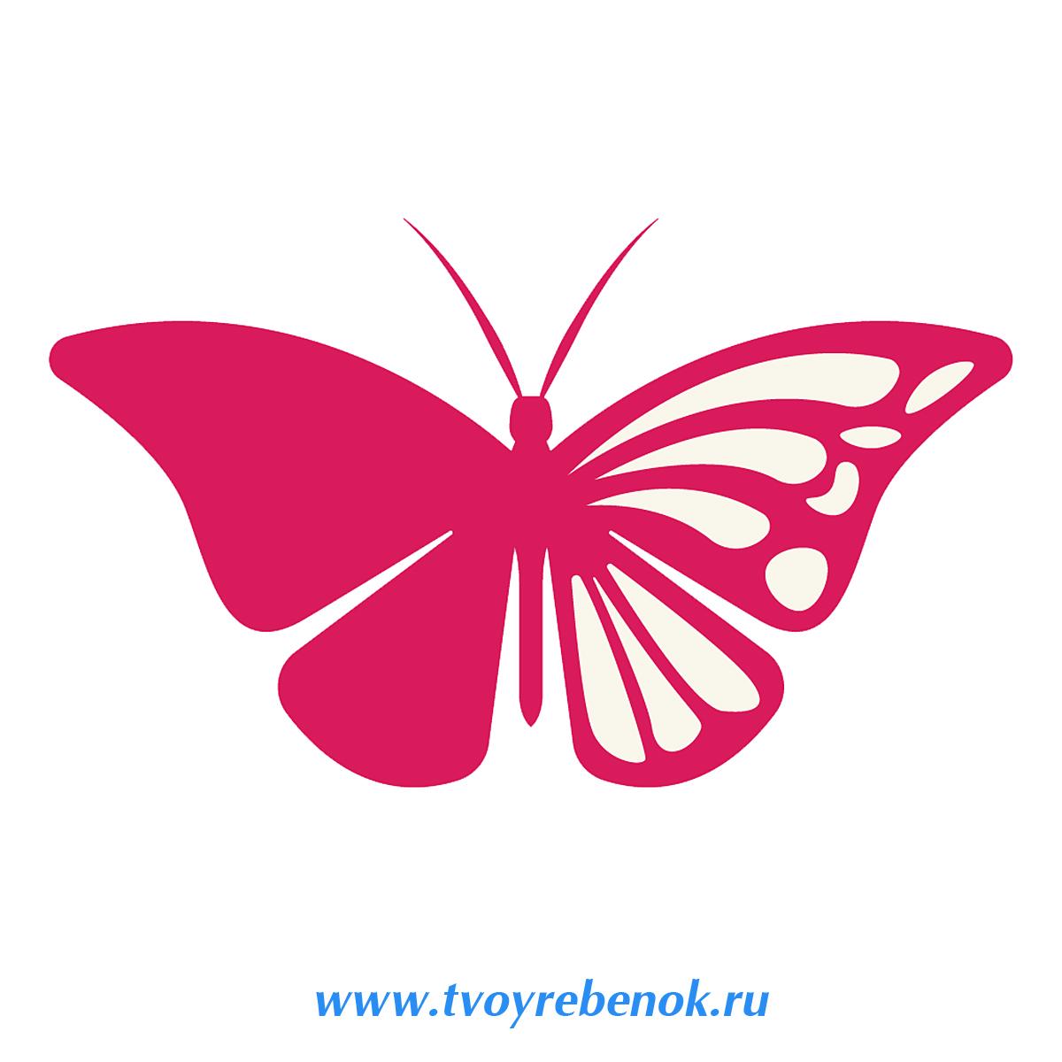 Бабочки для декора своими руками : из бумаги, объемные, трафареты 15